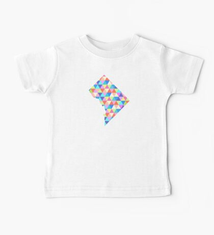 Washington D.C. - District of Columbia - Colorful Geometric Triangles Hipster USA  Baby Tee