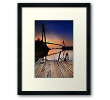 Barelang Bridge Framed Print