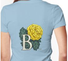 B is for Begonia - full image Womens Fitted T-Shirt