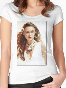 Keira Knightley Women's Fitted Scoop T-Shirt