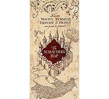 Harry The Marauders Map Photographic Print