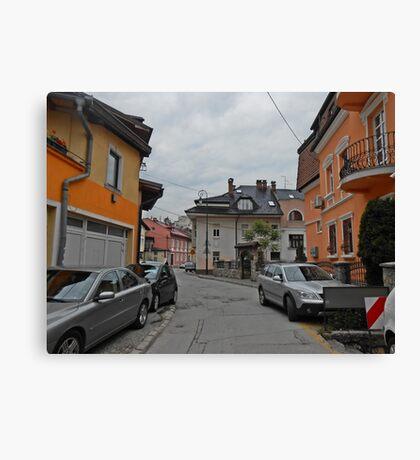 A street,Sarajevo. Canvas Print