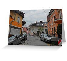 A street,Sarajevo. Greeting Card