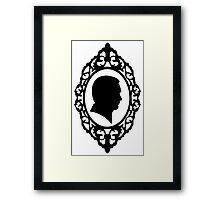 Hannibal Cameo in Black and White Framed Print
