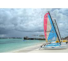 Cable Beach in Nassau, The Bahamas Photographic Print