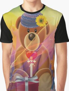 Mr.Teddy Bear Graphic T-Shirt