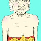Elderly Wonder Woman by Zach Woomer