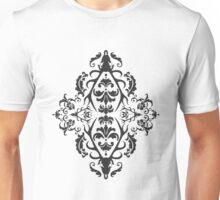 Stag Damask in Dark Unisex T-Shirt