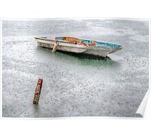 Lonely on a Rainy Day in Nassau Harbour, The Bahamas Poster