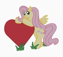 Fluttershy with Heart by eevilmurray