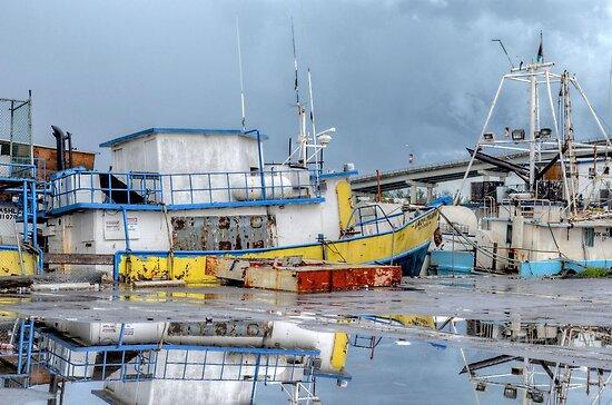 Rainy day at Potter's Cay in Nassau, The Bahamas by 242Digital