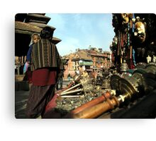Market, Patan City Canvas Print