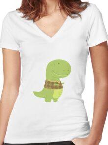 T-VEST Women's Fitted V-Neck T-Shirt
