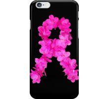 Azalea Flower Arrangement Photo Breast Cancer Awareness Ribbon iPhone Case/Skin