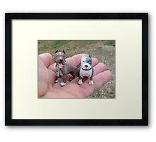 We're A Handful  Framed Print
