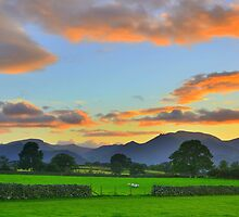 The Lake District: Evening Light Over the Fells by Rob Parsons