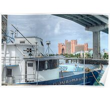 Atlantis view from Potter's Cay Poster