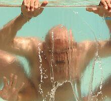 Summer Guys in Pool by FrankieTease