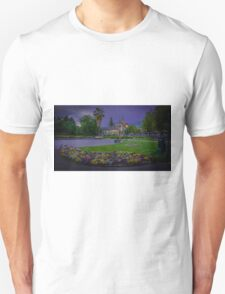 Springtime at the Soldiers Memorial and Old Town Hall Unisex T-Shirt