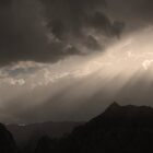 Stormy Las Vegas August Sunburst by FrankieTease