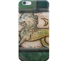 medieval lion dragon stained glass iPhone Case/Skin