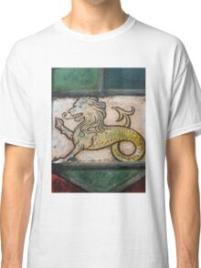 medieval lion dragon stained glass Classic T-Shirt