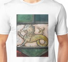 medieval lion dragon stained glass Unisex T-Shirt