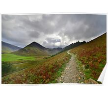 The Lake District: Path to Scarth Gap Poster