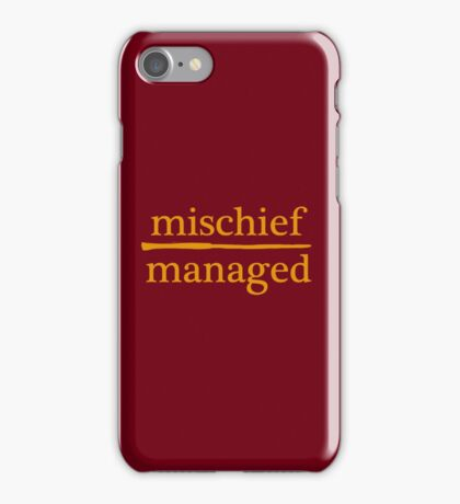 ⚡MISCHIEF MANAGED⚡ iPhone Case/Skin