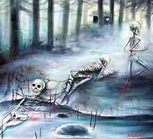 'Buried in the Woods' by artist Heather Calderon by Heather Calderon