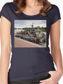 Unique Houseboat, Renmark, South Australia 2011 Women's Fitted Scoop T-Shirt