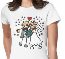 Just Married Womens Fitted T-Shirt