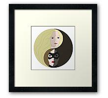 Yin Canary, Yang Canary Framed Print