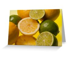 Lemon n Lime - study of fruit cross section Greeting Card
