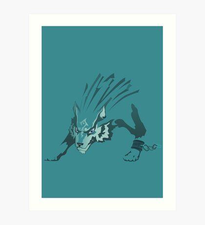 Wolf Link Art Print