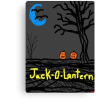 halloween jack o lantern Tia Knight Canvas Print