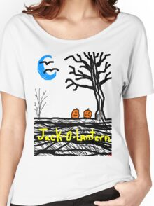halloween jack o lantern Tia Knight Women's Relaxed Fit T-Shirt