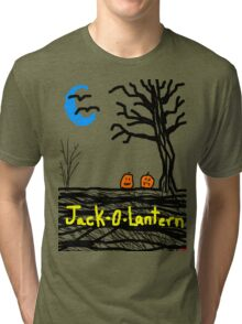 halloween jack o lantern Tia Knight Tri-blend T-Shirt