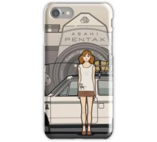 Honda N600 Rally Kei Car With Japanese 60's Asahi Pentax Commercial Girl iPhone Case/Skin