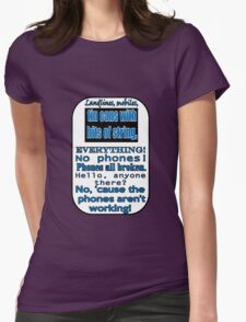 Ianto Jones Phone Quote Womens Fitted T-Shirt