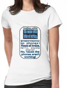 Ianto Jones Phone Quote Womens Fitted T-Shirt