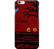 Halloween jack o lantern October 31 Tia Knight iPhone Case/Skin