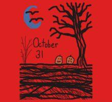Halloween jack o lantern October 31 Tia Knight One Piece - Short Sleeve