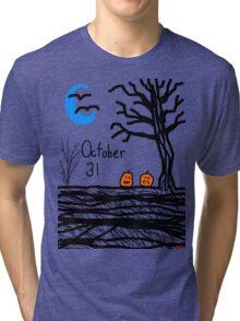 Halloween jack o lantern October 31 Tia Knight Tri-blend T-Shirt