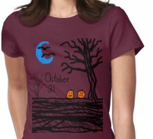 Halloween jack o lantern October 31 Tia Knight Womens Fitted T-Shirt