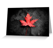 Red Solo.....LEAF! Greeting Card