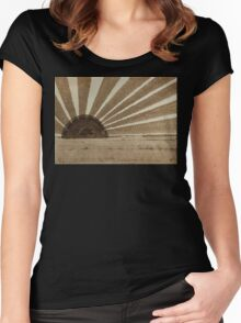 Sepia Sunset original painting Women's Fitted Scoop T-Shirt