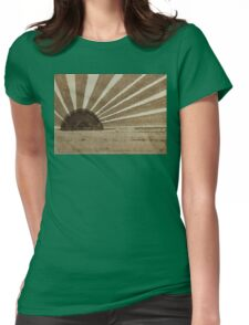Sepia Sunset original painting Womens Fitted T-Shirt