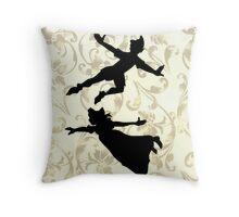 Wendy and Peter Throw Pillow