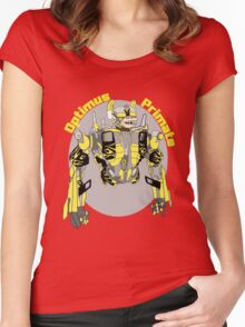 Optimus Primate with Name Women's Fitted Scoop T-Shirt